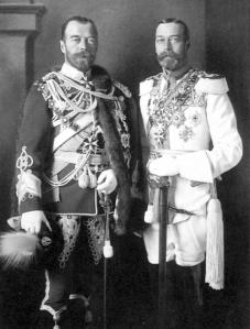 King George V and Tsar Nicolas II